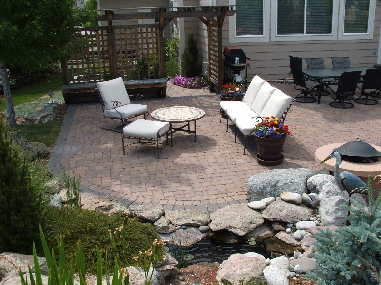 Plain Backyard Paver Designs Design With Prepriced Patio Dayton ...