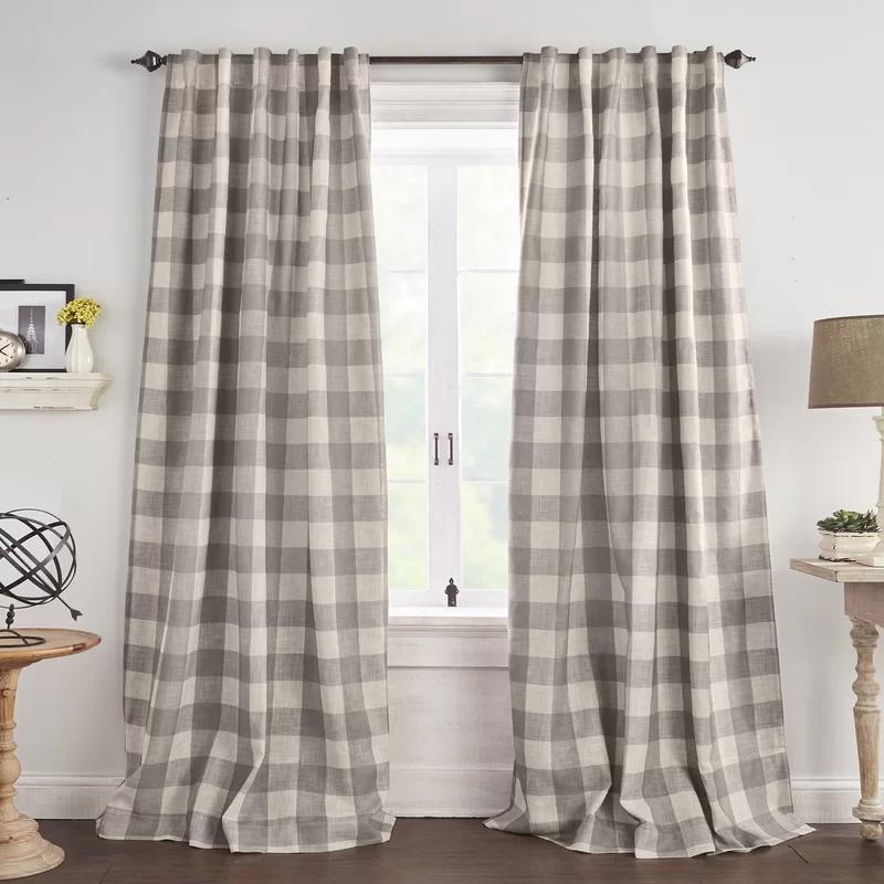Laurel Foundry Modern Farmhouse Conor Plaid Blackout Thermal Single Curtain Panel Wayfair In 2020 Panel Curtains Curtains Drapes Curtains