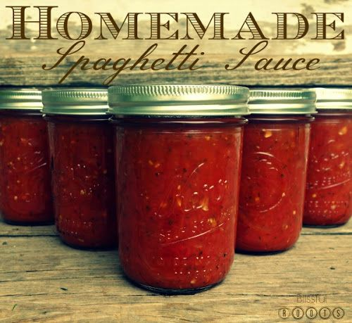Canning Your Own Spaghetti Sauce from Blissful Roots ...