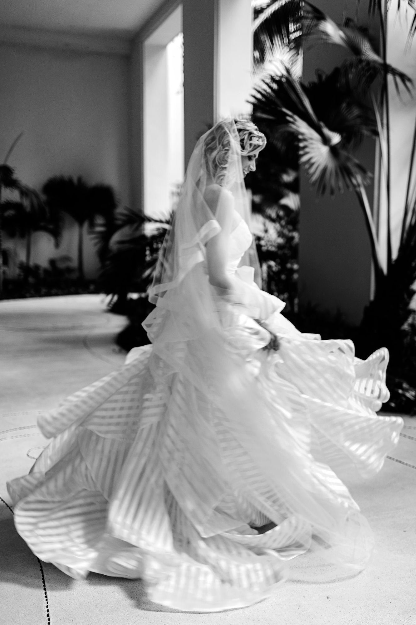 Hayley paige guindon striped organza wedding dress wedding dress n