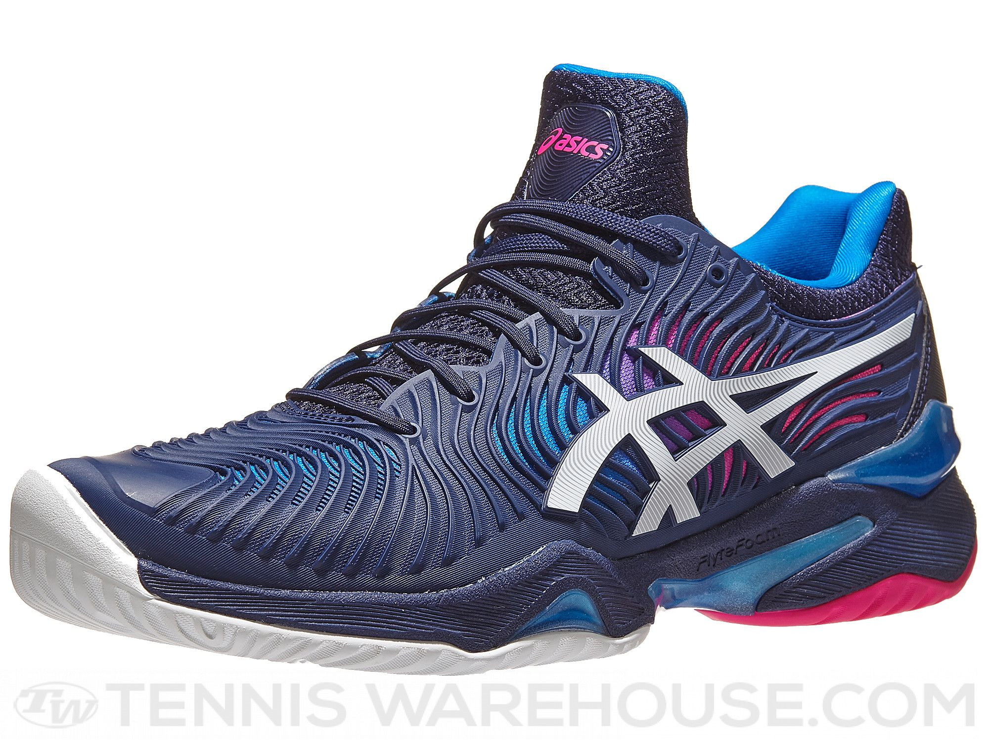 Asics Court FF 2 Blue/Pink/White Women's Shoes | Fashion ...