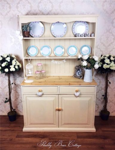 Rustic Country Kitchen Dresser French Welsh Shabby Chic Vintage Pine Cottage Ebay