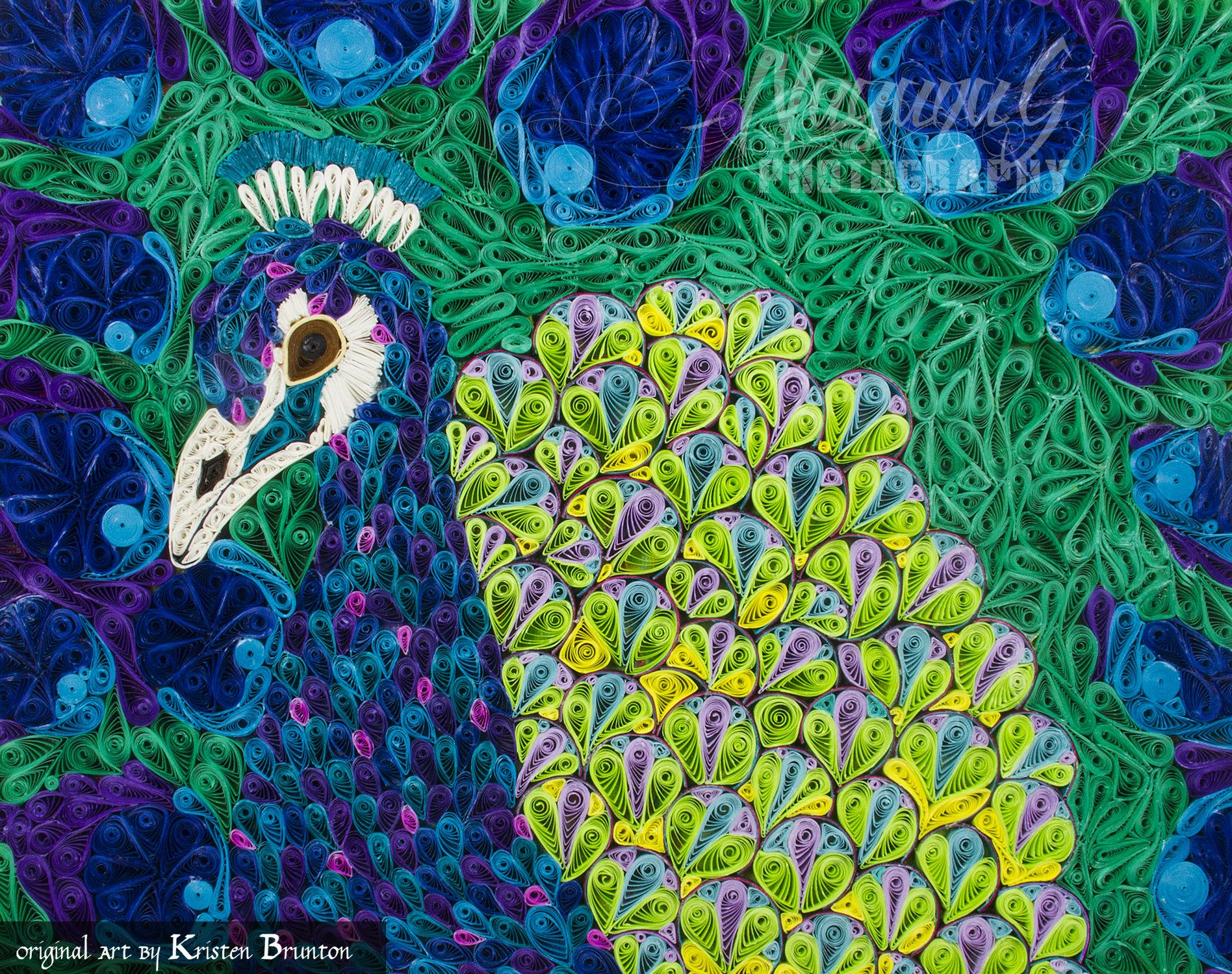 Quilled Paper Art, Peacock, Swagger, Digital Download, Paper