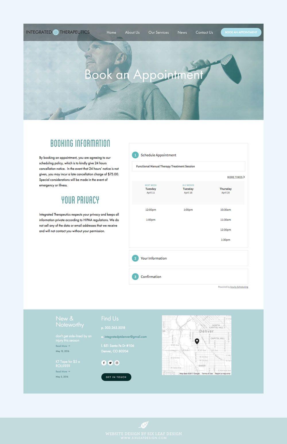 Integrated Therapeutics Website Design Six Leaf Design Logo Branding Graphic Web Designer Denver Colorado Website Design Leaf Design Logo Therapy Website