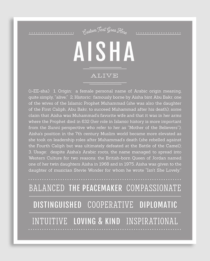 Aisha Meaning Of Name idea gallery