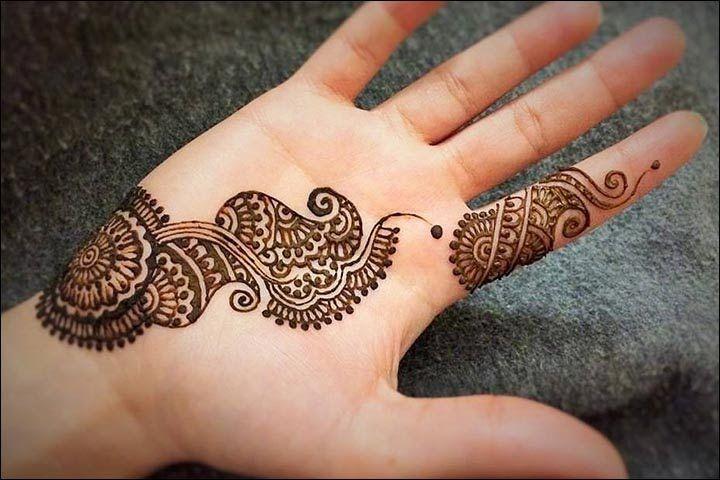 Tatuajes Mehndi Diseños : Single line mehndi designs best simple one
