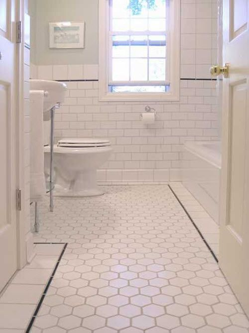 34 White Hexagon Bathroom Floor Tile Ideas And Pictures White