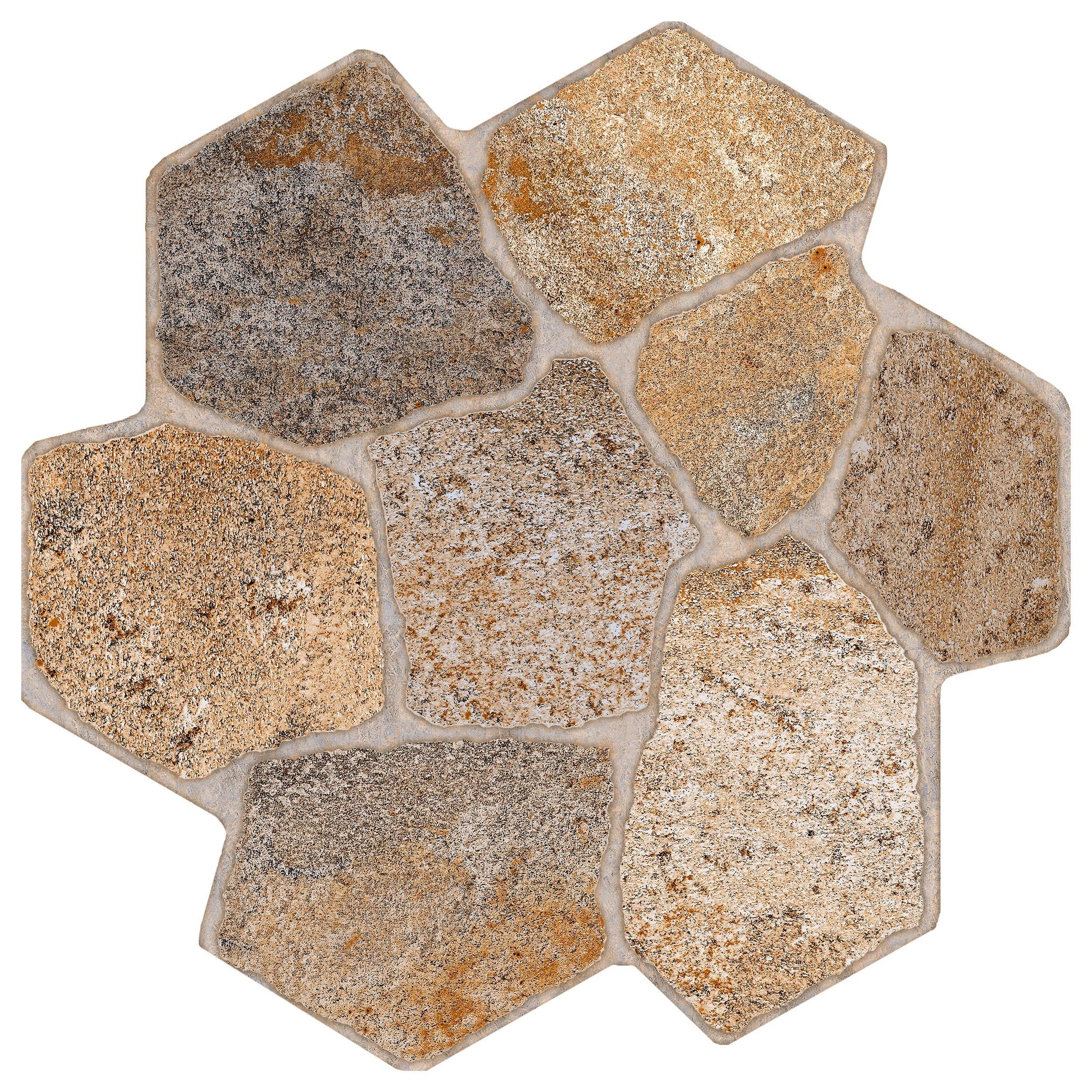 Via Appia Brown Porcelain Tile in 2019 Tiles, Bathroom