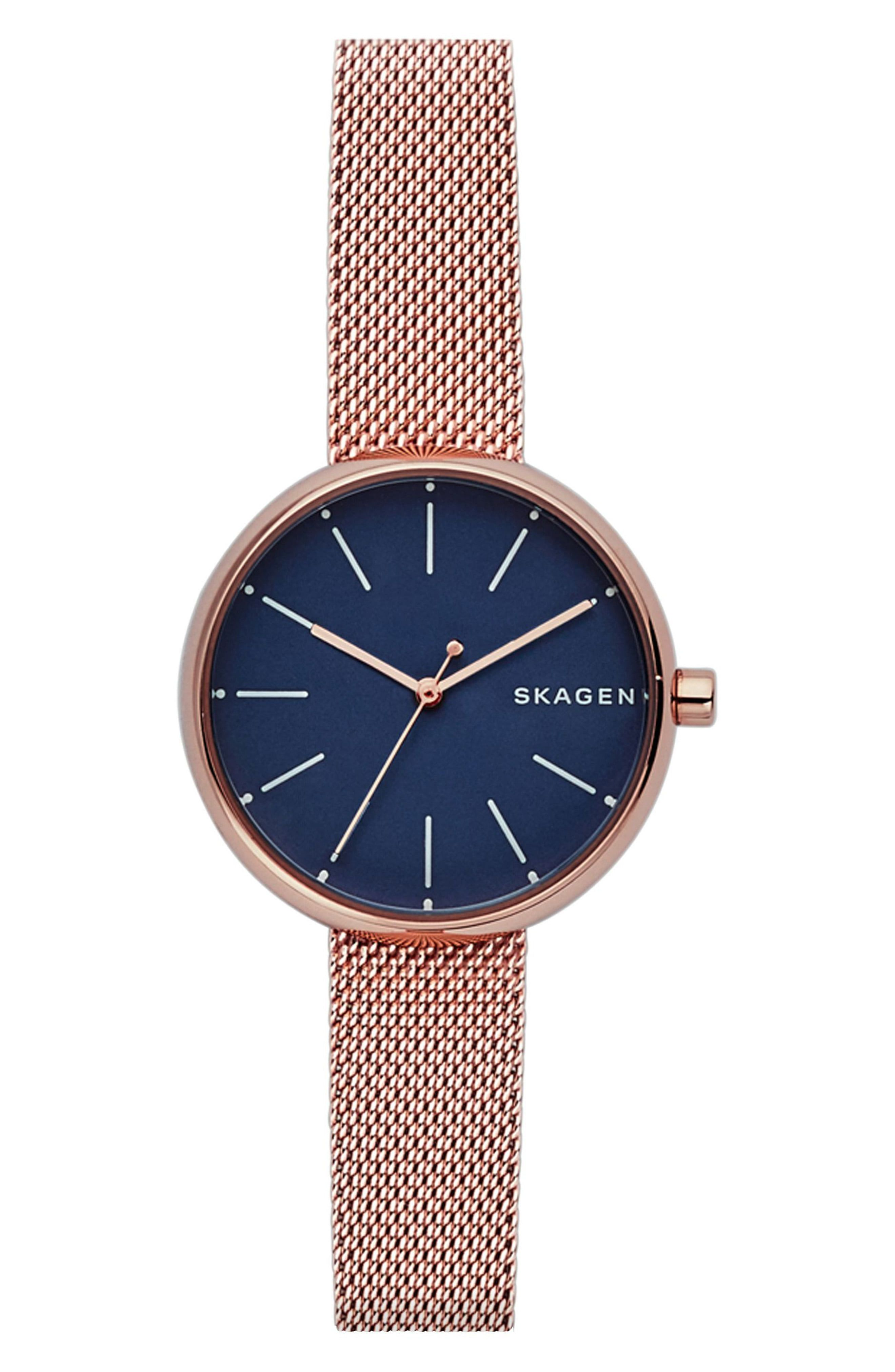 368805a0d Skagen Round Mesh Strap Watch, 30mm in 2019 | Products | Mesh ...