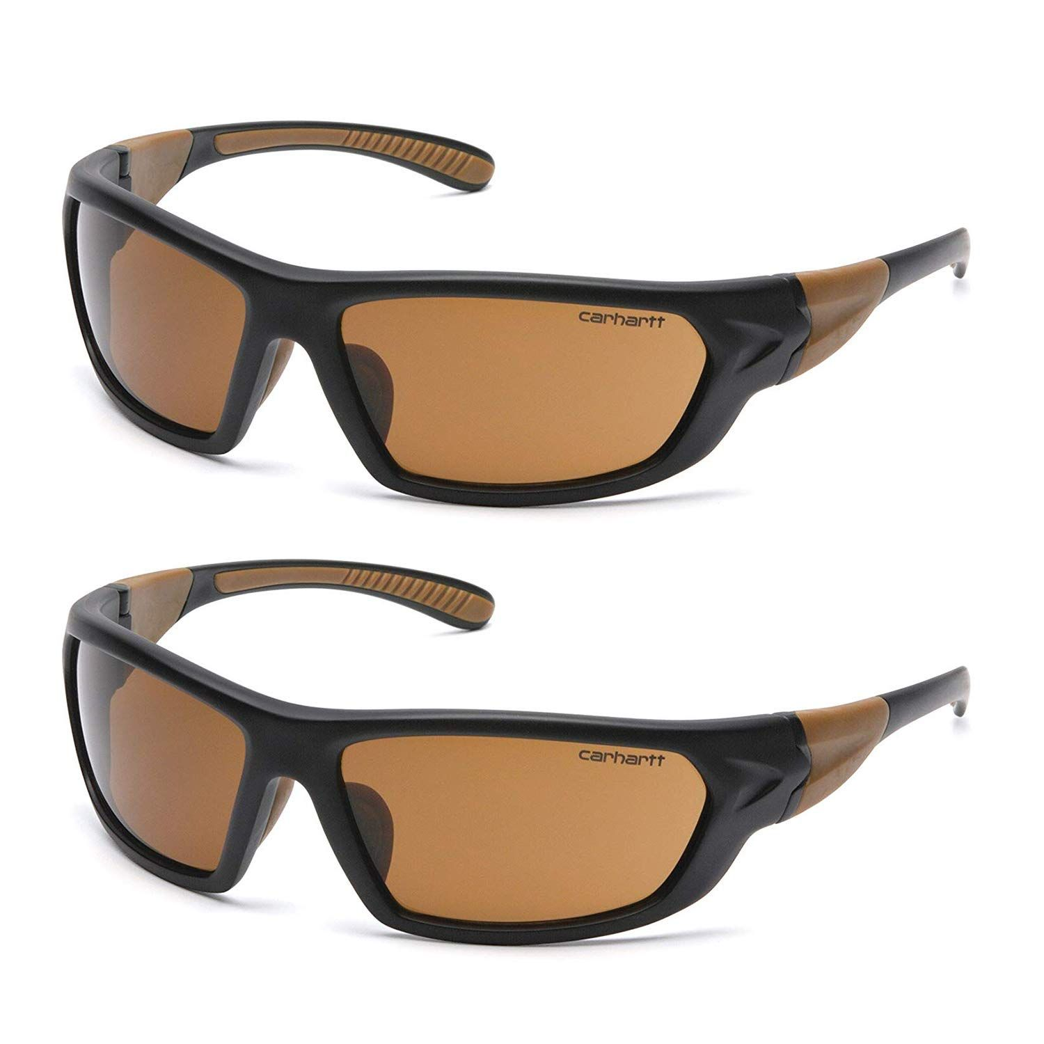 Carhartt carbondale safety sunglasses with sandstone