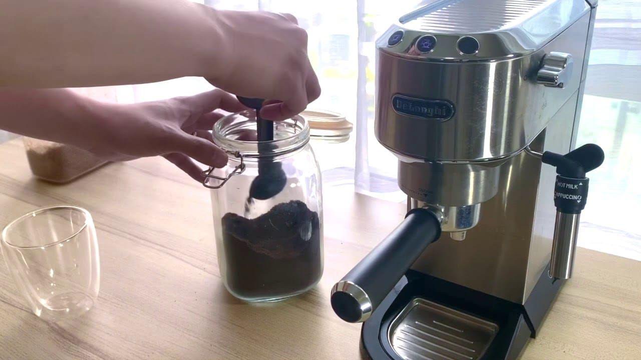افضل مكائن القهوة ديلونجي Latte At Home Using Delonghi Ec685 Stove Top Espresso Kitchen Appliances Coffee