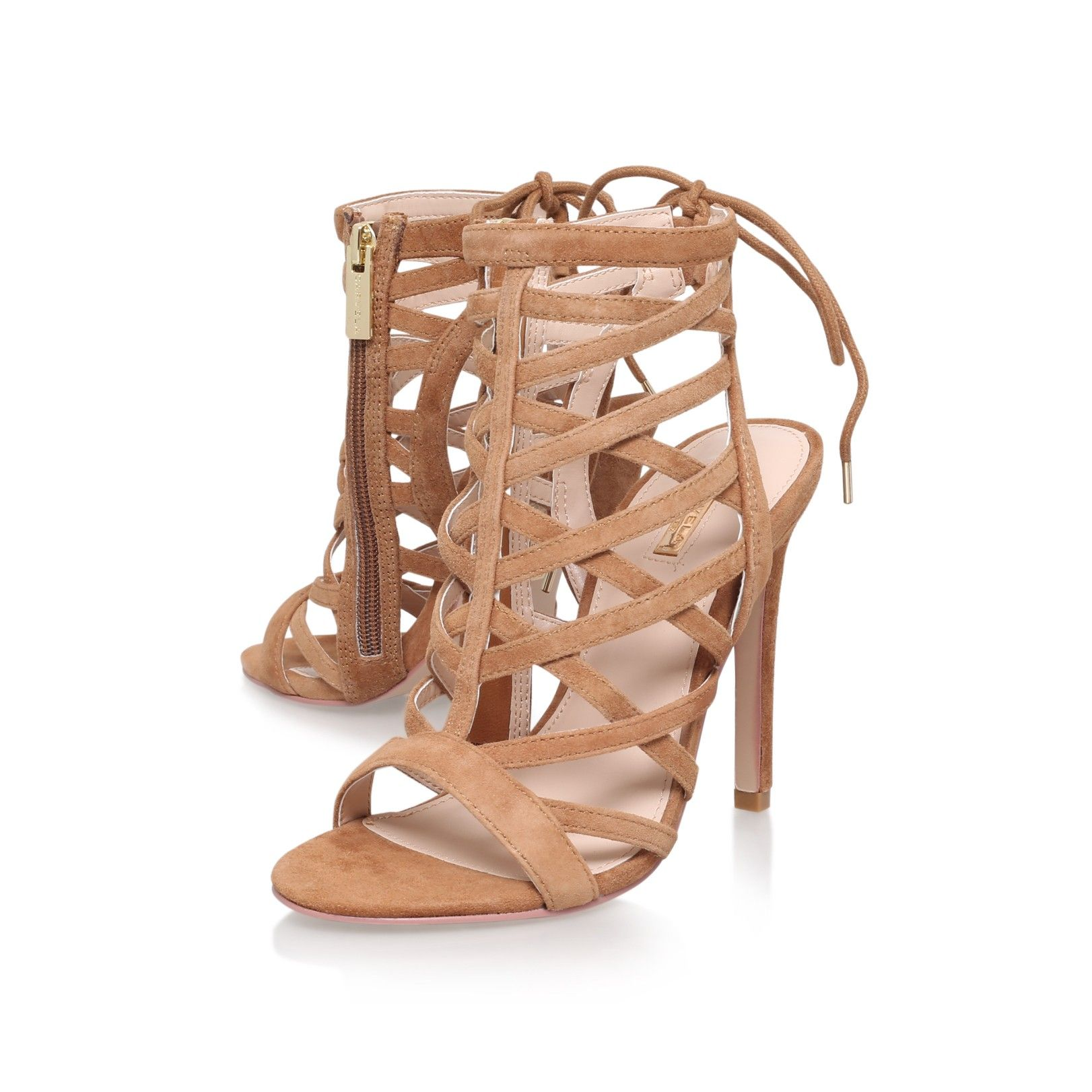 gracie tan high heel sandals from Carvela Kurt Geiger