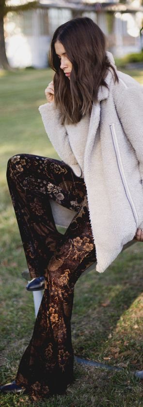 Free People Blog Floral Velvet Flares Fall Inspo