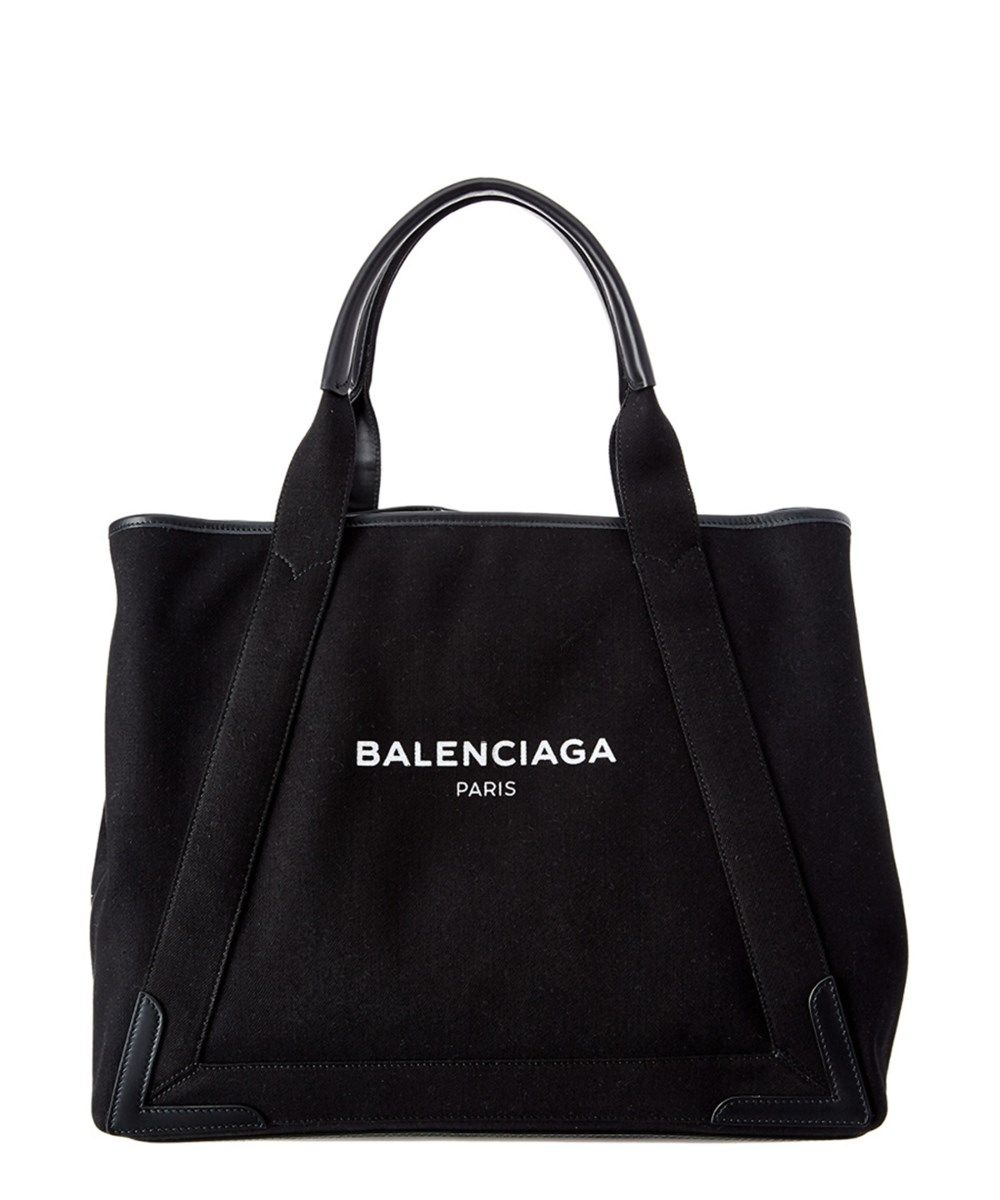Balenciaga Bags Canvas Tote Leather Lining Denim Hand