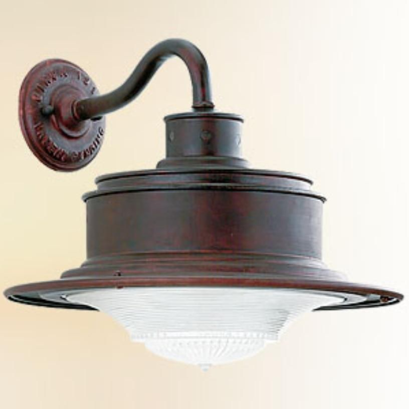 South Street Wall Light with Old Rust Finish by Restoration Warehouse. Glassware: Antique Pressed Prismatic. Metalwork: Hand-Forged and Cast Iron. Available in Small, Medium and Large.