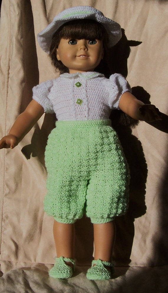 112 Spring Fling Set - Crochet Pattern for American Girl Dolls | Muñecas