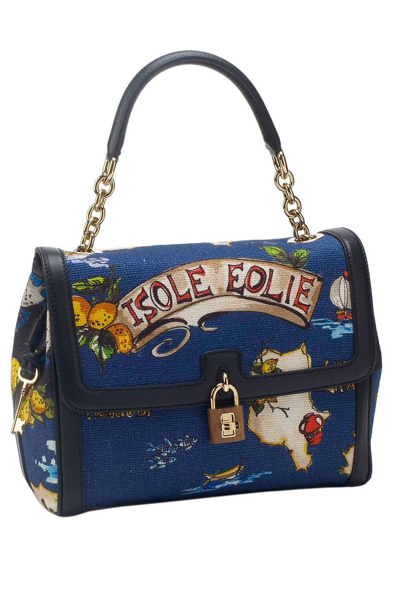 Isole Eolie Canvas Dolce Bag