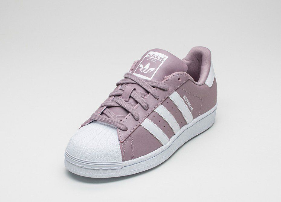 adidas superstar purple white