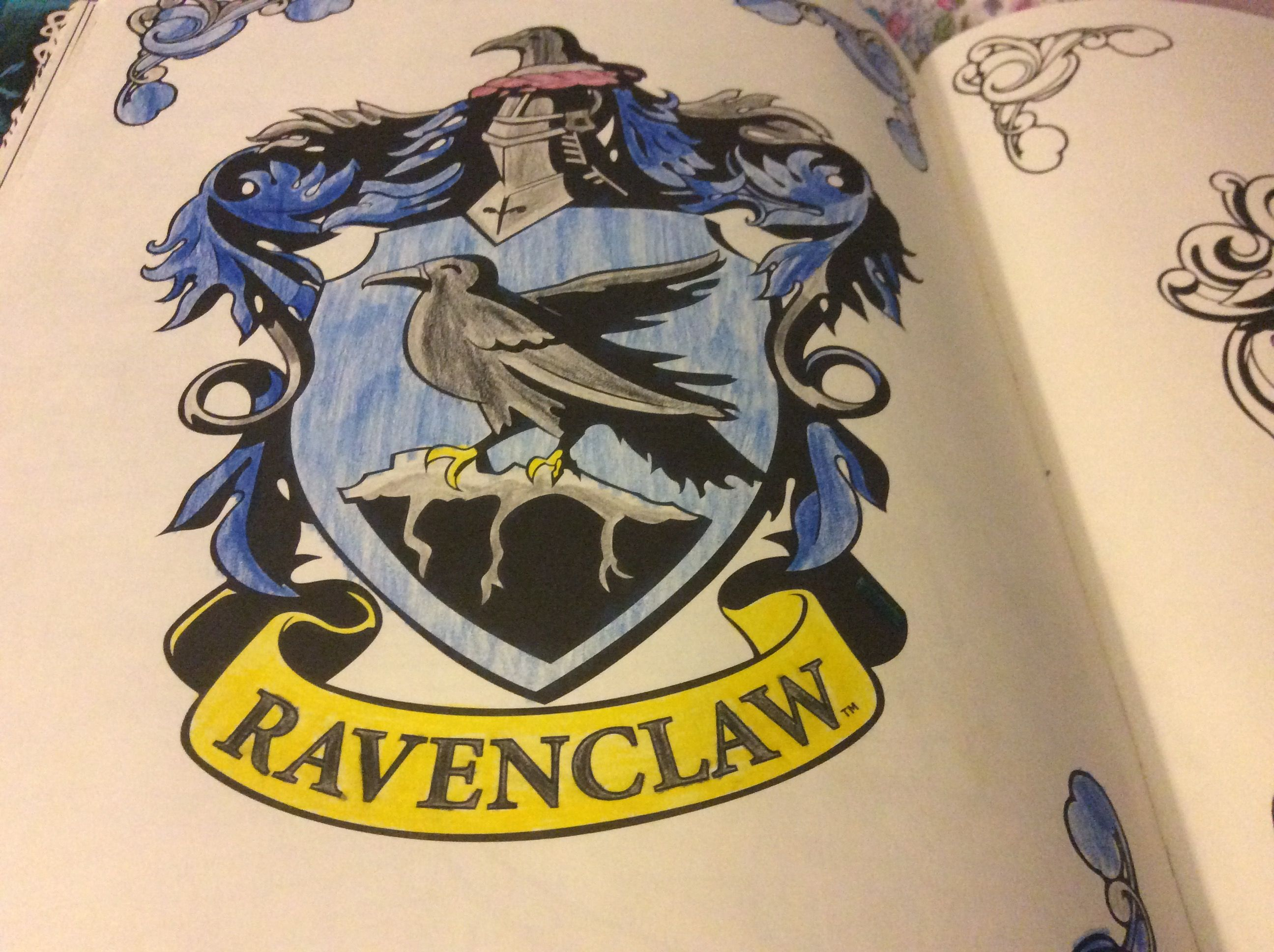 ravenclaw crest from the harry potter colouring book