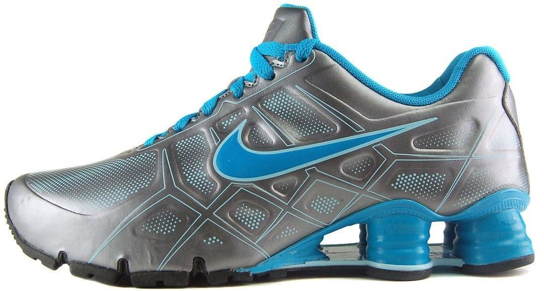 2f28e92fe766 Nike Shox Turbo XII SL Running Shoes Youth Womens Sizes Grey Blue 487433  002