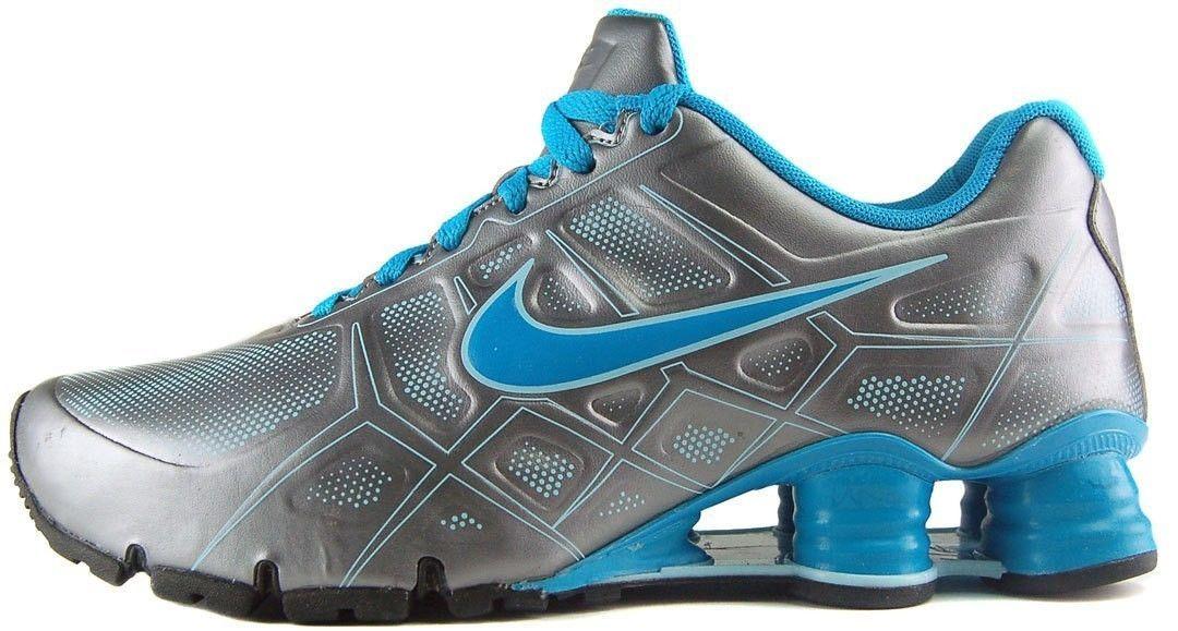 Nike Shox Turbo XII SL Running Shoes Youth Womens Sizes Grey Blue 487433  002 | eBay