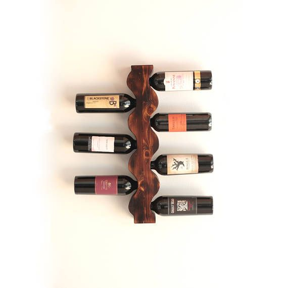Wine Rack Wall Mounted Wine Rack Rustic Wine Rack Vertical Range Bouteille Bouteille Rangement