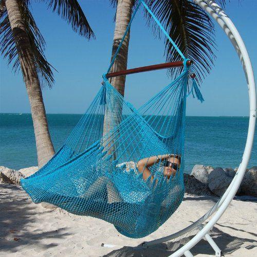 special offers   caribbean jumbo hammock chair by beachside hammocks  aqua blue   in stock special offers   caribbean jumbo hammock chair by beachside      rh   pinterest
