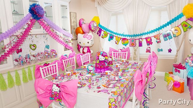 Rainbow Hello Kitty Party Ideas Party City Birthday Party Themes