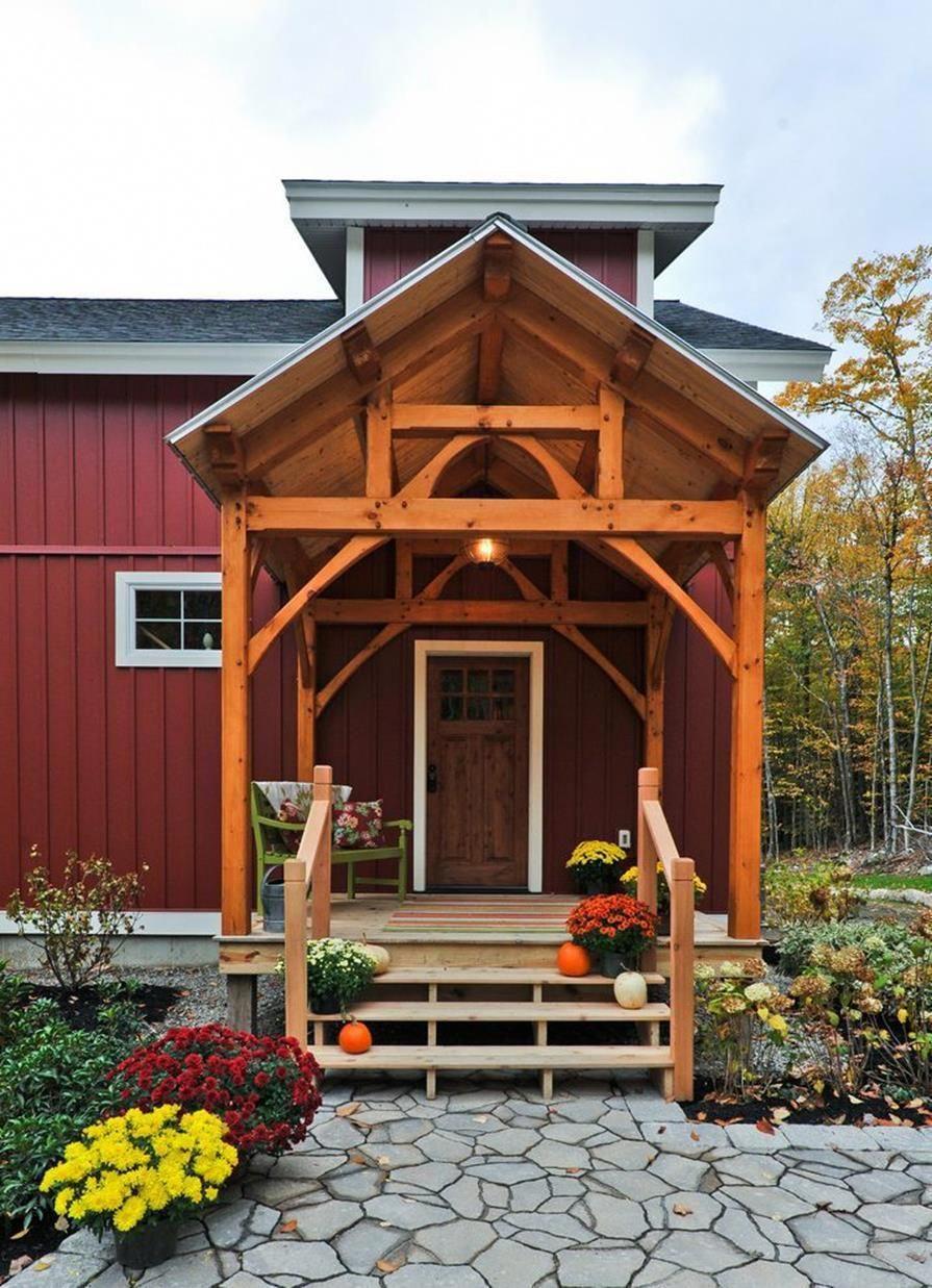 38 perfect farmhouse front porch landscape design ideas