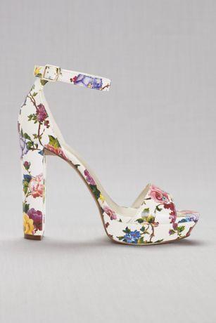 floral platform heels  floral shoes davids bridal shoes