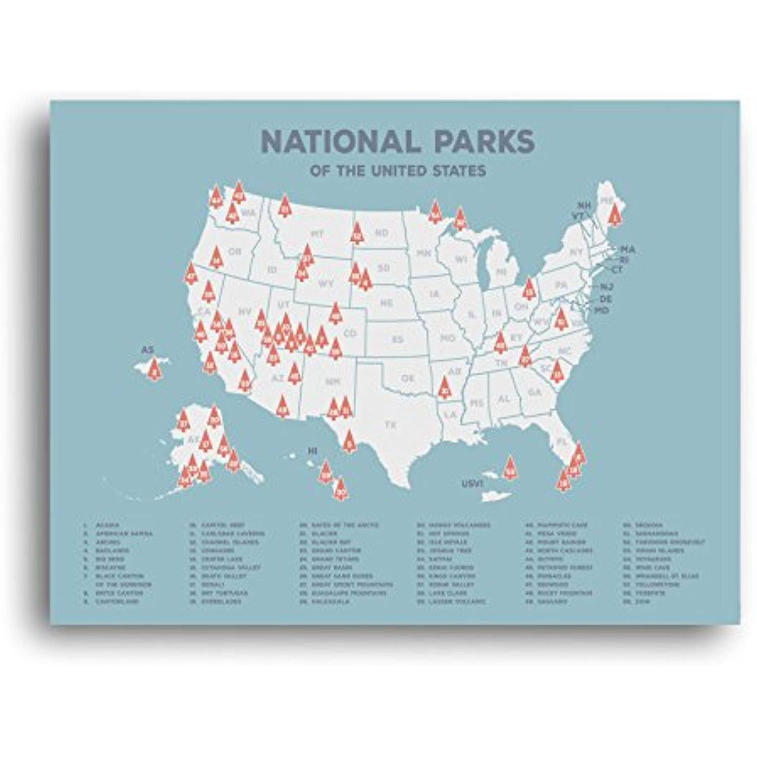 Us National Parks Map Black Usa Map Poster Map Of The United States Map Print Map Wall Decor Tr National Parks Map National Parks Usa National Parks Trip