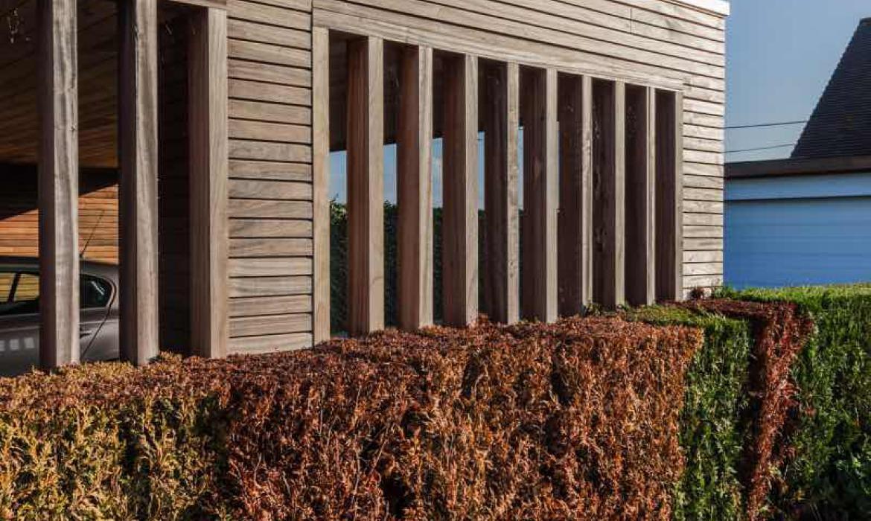 Dubbele carport met berging in padoek Woodproject in
