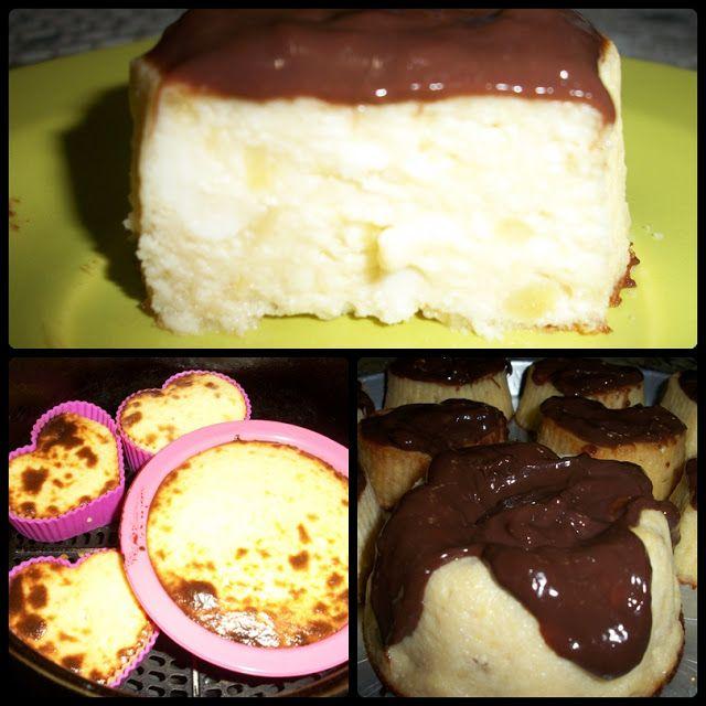 Fabiana Maciell Receitas: Mini cheesecake de banana maça cobertura de chocol...