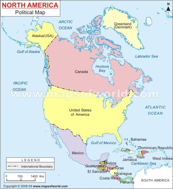 Geography 102 - North Pole, North America, Central America ...
