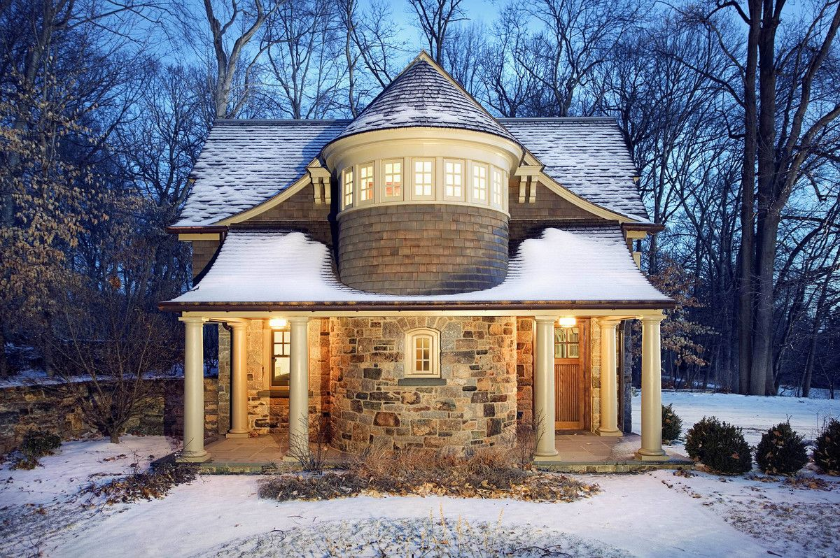 Stone and shingle classic style carriage house use j k for Carriage home plans