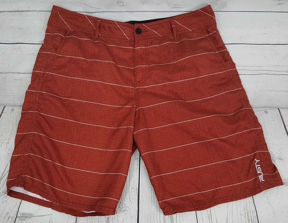 5f72a17a52 Rusty rust orange striped swim surf board shorts mens 36, 10