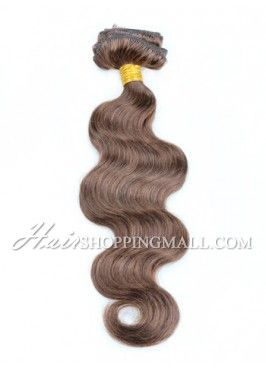 """#4 8pcs 14""""-22"""" Clip in Hair Extensions Indian Remy Hair Body Wave [CP4BW]"""