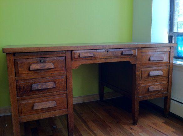 Antique teacher's desk, already have one in the room. - Wooden Desk Ah Apt. Pinterest Wooden Desk, Desks And Room