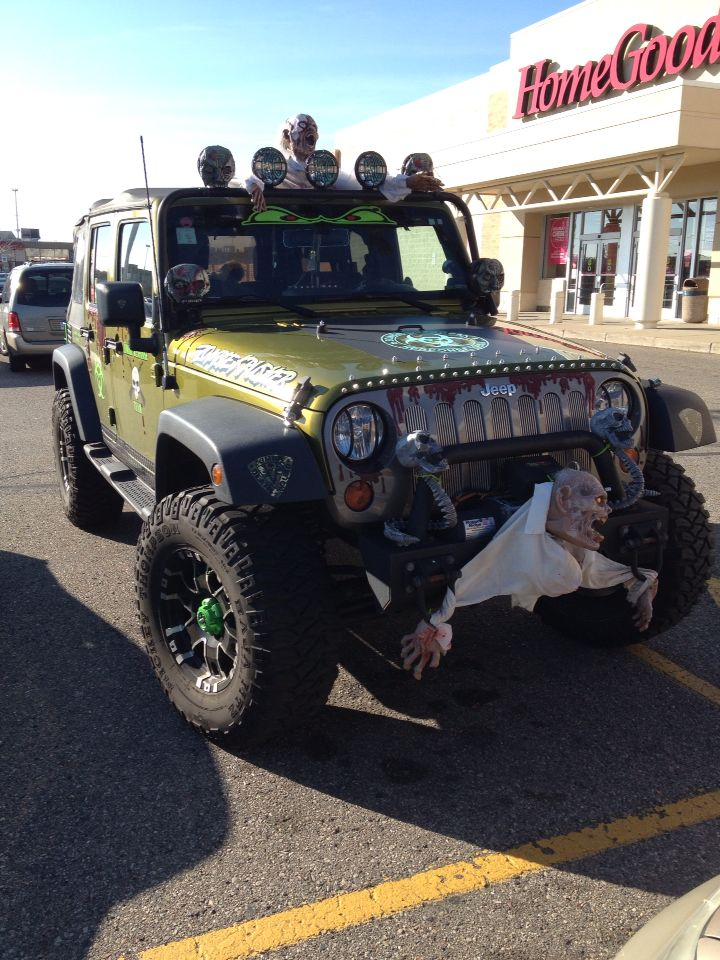 Jeep all dressed up for Halloween.