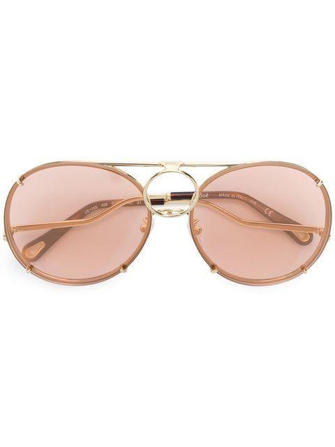 a22ee8945f9c Chloé Eyewear Round Frame Sunglasses in 2019
