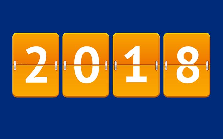 T l charger fonds d 39 cran 2018 an 4k nouvel an 2018 concepts en 2018 le tableau de bord - Idee nouvel an 2018 ...