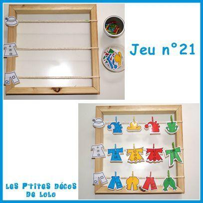 Pour utiliser les pinces linge ateliers montessori - Activite pince a linge maternelle ...