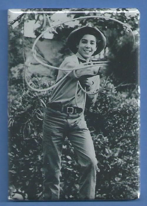 THE RIFLEMAN JOHNNY CRAWFORD *2X3 FRIDGE MAGNET* WESTERN TV SHOW CHUCK CONNORS