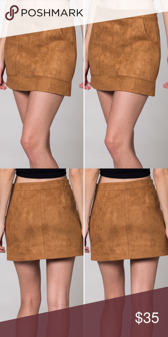 9b118db14c Honey Punch Suede Mini Skirt with Pockets Honey Punch Suede Mini Skirt with  Pockets | 90% Polyester, 10% Spandex Honey Punch Skirts Mini
