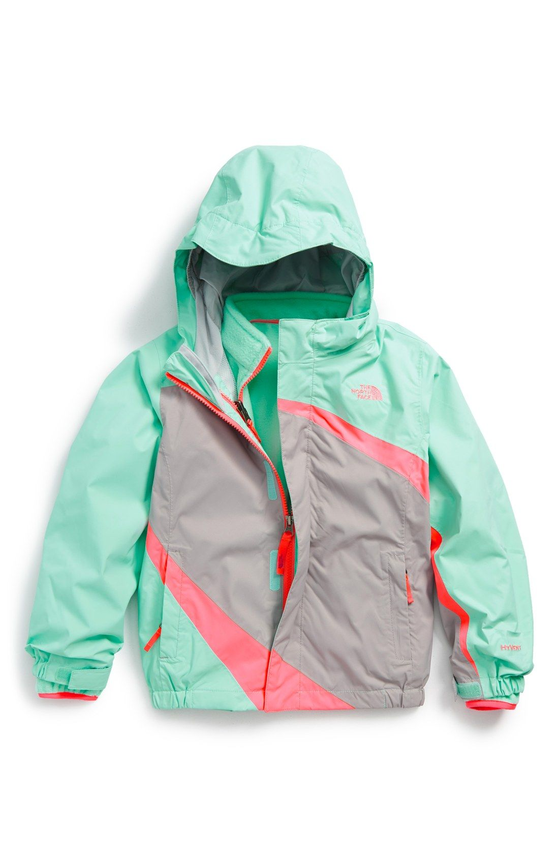 The North Face Mountain View Hooded Waterproof Triclimate 3 In 1 Jacket Toddler Girls Little Girls Nordstrom Toddler Jacket Toddler Girl Little Girl Outfits [ 1687 x 1100 Pixel ]