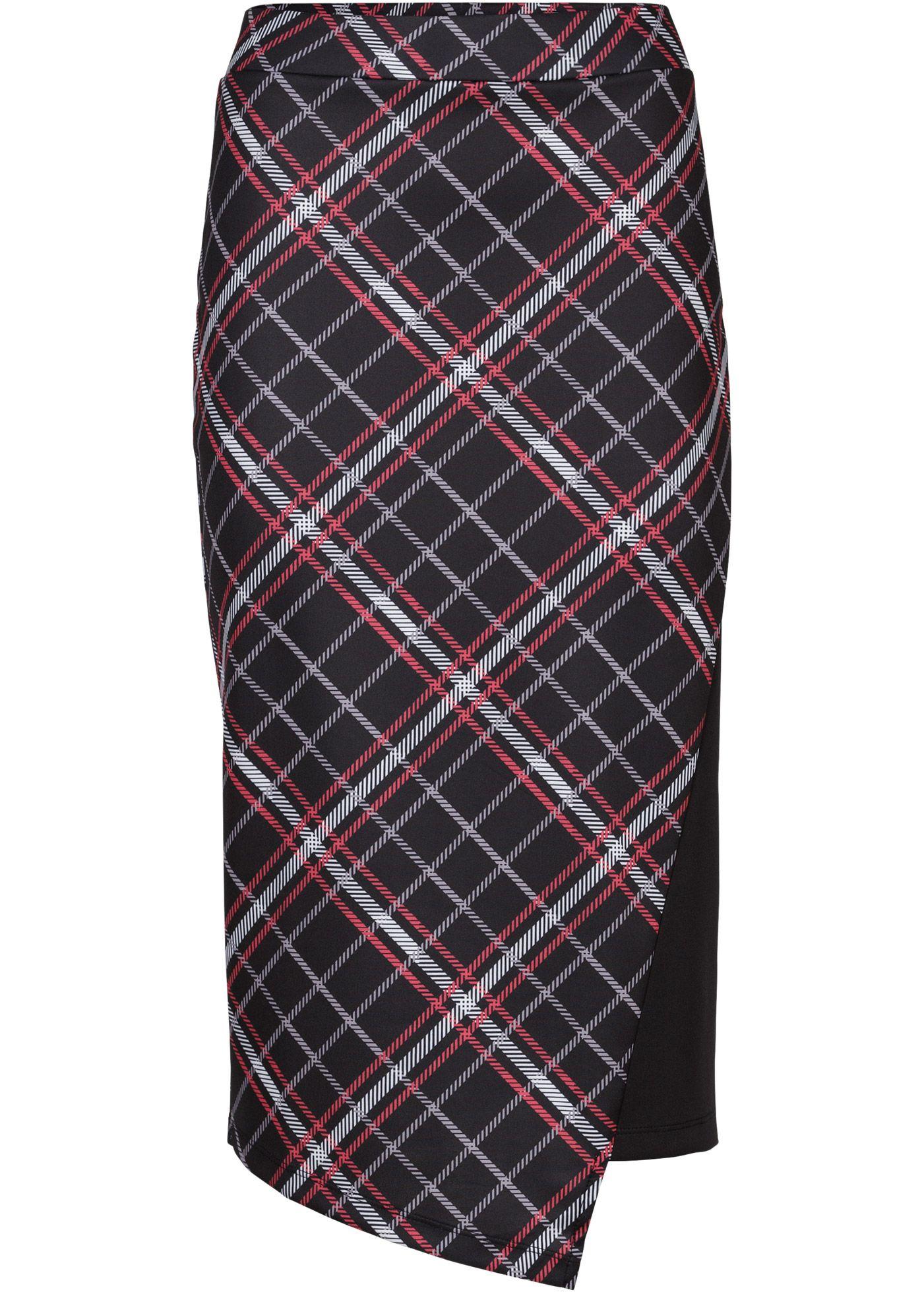 a45a407679b Клетчатая юбка черный красный в клетку - BODYFLIRT купить онлайн - bonprix .ru