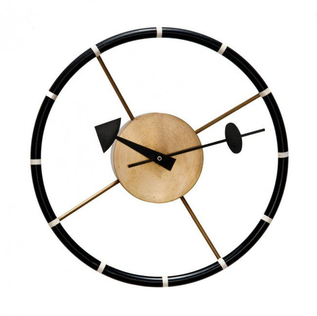 george nelson steering wheel wall clock on just in time pinterest. Black Bedroom Furniture Sets. Home Design Ideas