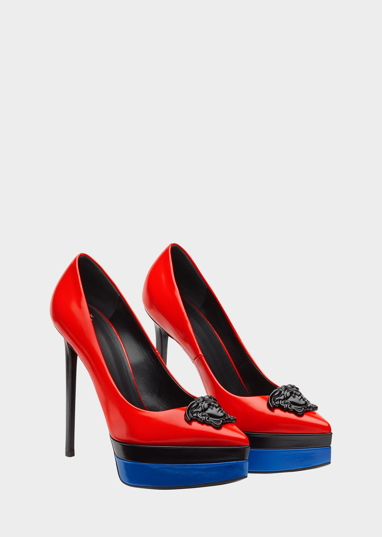 bd81dd4baa4 Escarpins compensés colorés Palazzo - Versace Femme