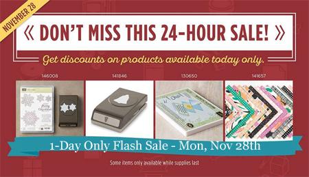 Stampin' Up! Nov 28 Flash Sale & Online Extravaganza Sales, Shop with Dawn Olchefske #dostamping