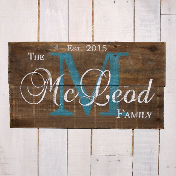 Family Name Sign Established Sign Pallet Last Name Wood Sign Rustic Family Established Sign Established Family Signs Last Name Wood Sign Family Name Signs